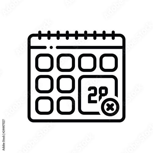 Photo Black line icon for adjourn