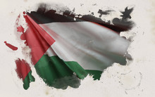 Palestinian Flag, Palestine National Colors Background  <<3D Rendering>>