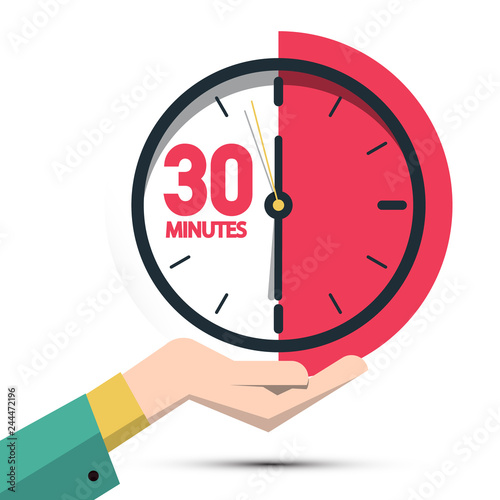 Fotografia  30 Thirty Minutes Clock in Hand
