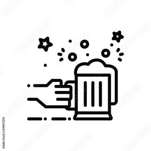 Fotografie, Obraz  Black line icon for allegro