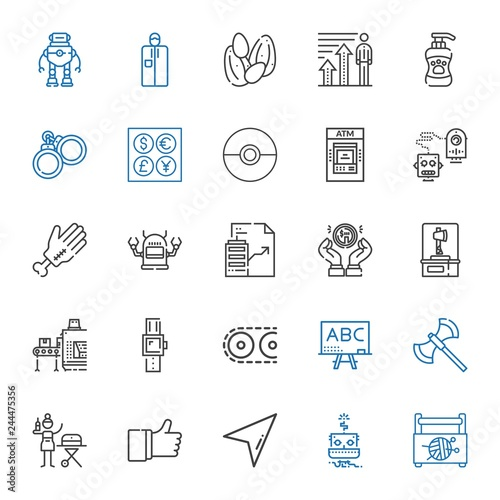 Photo  hand icons set