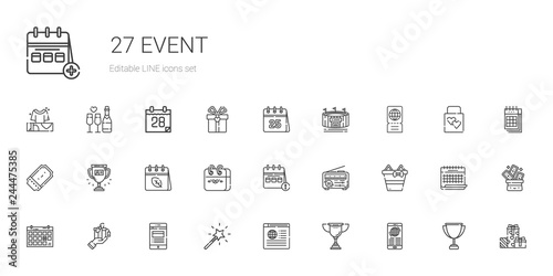 Fotomural  event icons set