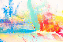 Abstract Watercolor Splatter C...