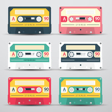 Retro Audio Cassettes Set - Ve...