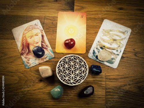 Lenormandkarten / Orakelkarten mit esoterischer Deko