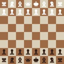 Chessboard. Top View Vector Flat Design Chess Board.