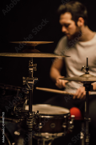 Fotografia professional drummer details