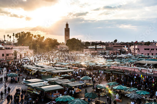 Deurstickers Marokko Marrakech, Morocco