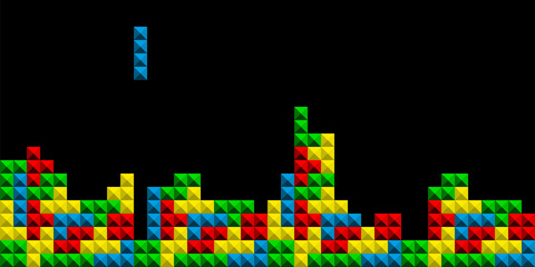 Game Tetris pixel bricks. C...
