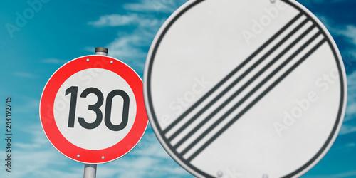 Fotomural Tempolimit 130 km/h