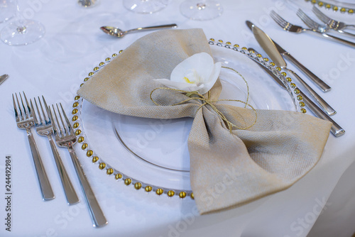 Fine Dining Table Setting Featuring