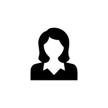 Silhouette Woman On A White Background