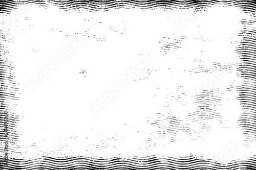 Obraz na plátně  Halftone monohrome grunge lines texture