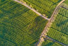 Aerial View Of Beautiful Rural...