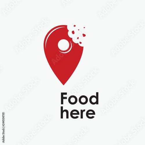 Fototapeta Vector logo food here obraz