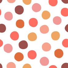 Seamless Hand Drawn Vector Dots Pattern