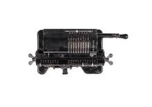 Old Mechanical Calculator,metal Digital Font