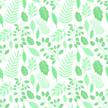 Easter Seamless Pattern Of Gre...