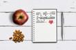 """canvas print picture - Notizblock mit Plan für """"Gesundes Leben"""" auf Holzuntergrund"""