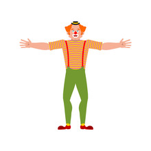 Clown Happy. Funnyman Merry. H...
