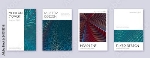 Fotografie, Obraz  Minimal brochure design template set. Red abstract