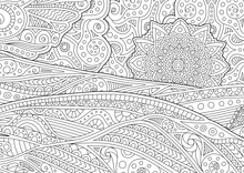 Adult Coloring Book Page With ...