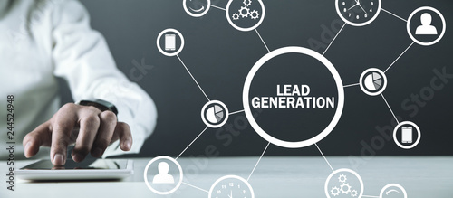 Lead Generation. Concept of business, network, technology, future Canvas-taulu