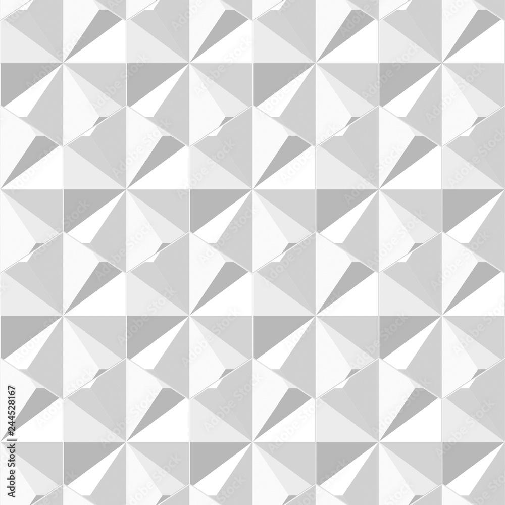 White 3d seamless geometric pattern