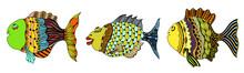 Stylized Hand Drawn Fish