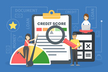 Credit Score Concept. Document...