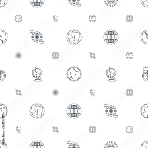 Fotografia  geography icons pattern seamless white background