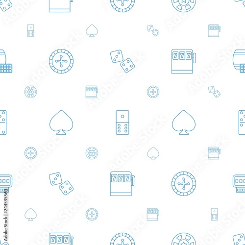 Foto  gambling icons pattern seamless white background
