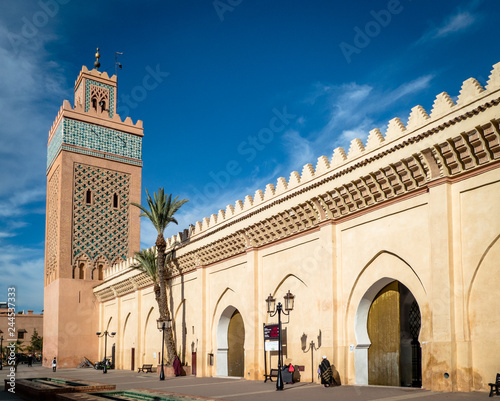 Obraz na plátne View of the Moulay El yazid Mosque in Marrakesh Morocco
