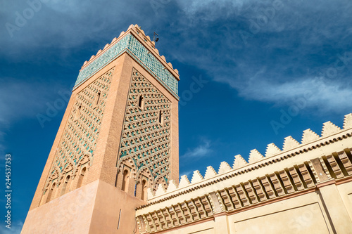View of the Moulay El yazid Mosque in Marrakesh Morocco