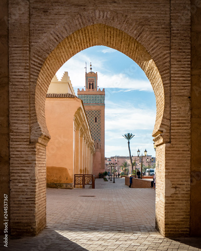 Fotografie, Obraz  View of the Moulay El yazid Mosque in Marrakesh Morocco