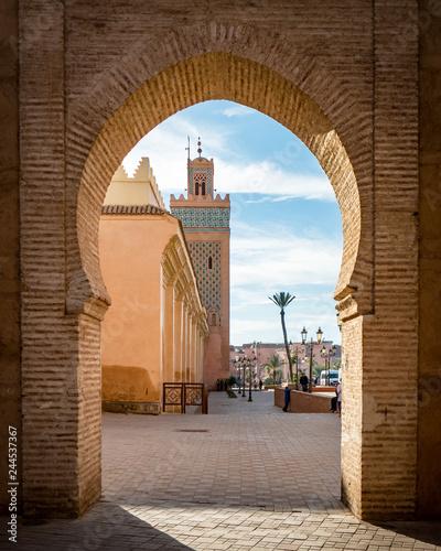 Fotografia, Obraz  View of the Moulay El yazid Mosque in Marrakesh Morocco