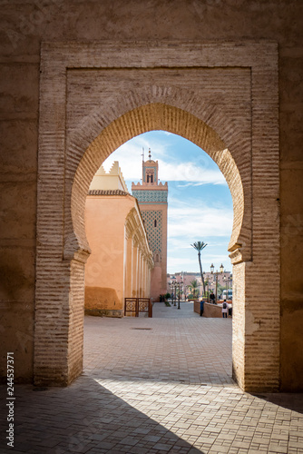 Vászonkép  View of the Moulay El yazid Mosque in Marrakesh Morocco