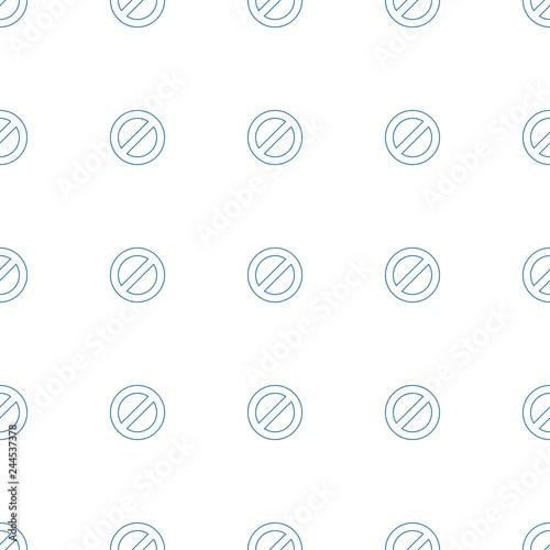 Fotografía  prohibited icon pattern seamless white background