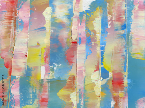 Fototapety, obrazy: Colorful abstract painting background. Oil paint. Texture palette knife & blur. High detail. Can be used for web design, art print, textured fonts, figures, shapes, etc.