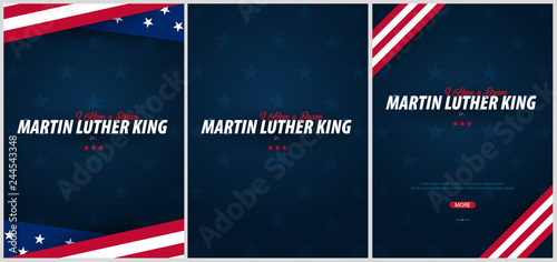 Cuadros en Lienzo Martin Luther King day backgrounds