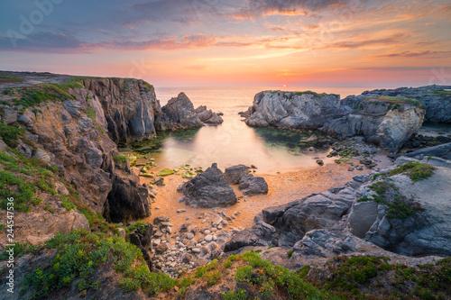 Obraz na płótnie Bretagne coastline near Quiberon, Brittany, France