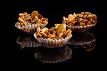 Group Of Three Of Useful Handmade Candies With Caramelized Sunflower And Pumpkin Seeds