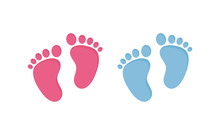Baby Footsteps Vector Illustra...