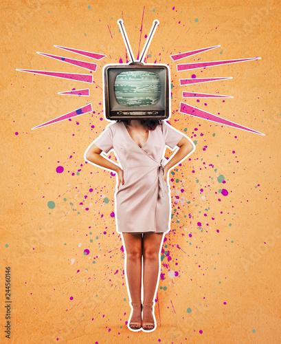 Plakaty do domu - mieszkania television-propaganda-art-collage