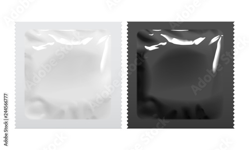 Fotomural Packaging Foil Pouch Medicine Or Condom.