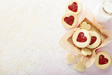 Heart Shaped Vanilla Cookies W...