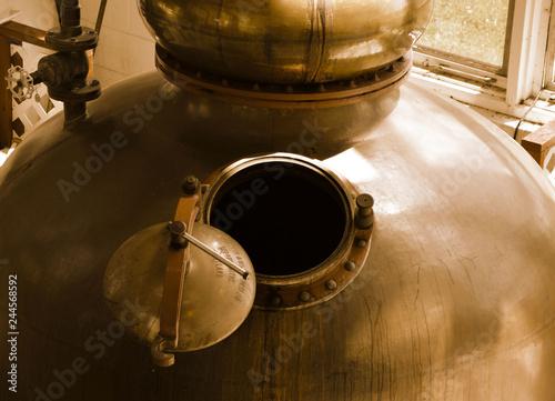 Leinwand Poster Destillery or Brewery Kettle