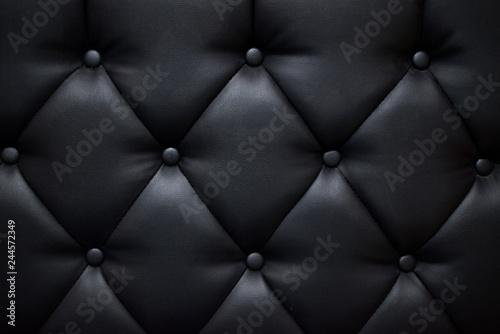Obraz na plátně  Black color sofa texture