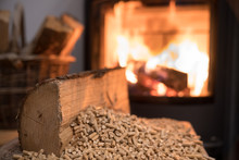 Wood Stove Heating With In For...
