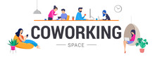 Co-working Space, Concept Illu...